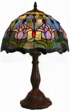 stained glass table lamp small. Black Bedroom Furniture Sets. Home Design Ideas