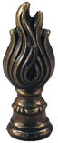 89mm  Large Flame Antique Brass