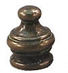 19mm Small Padoga Antique Brass